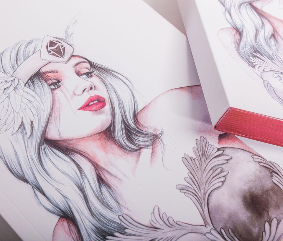 Cuaderno ilustrado Hypatia - Reina de Diamantes