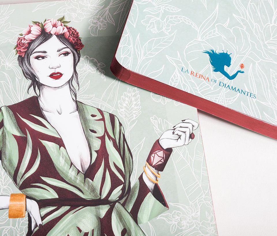 Cuaderno ilustrado Maya - Reina de Diamantes