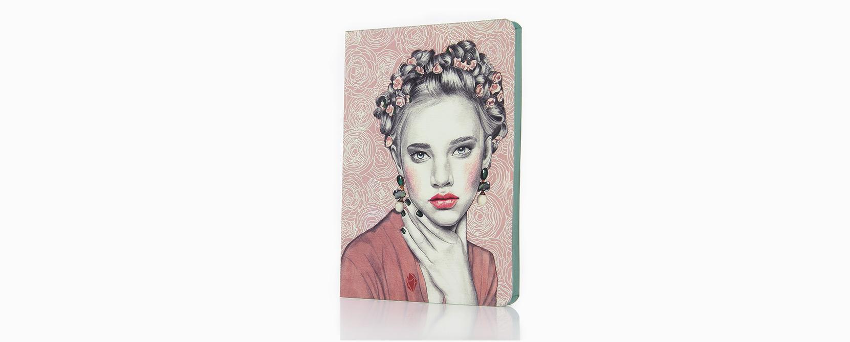 Cuaderno ilustrado Edith - Reina de Diamantes