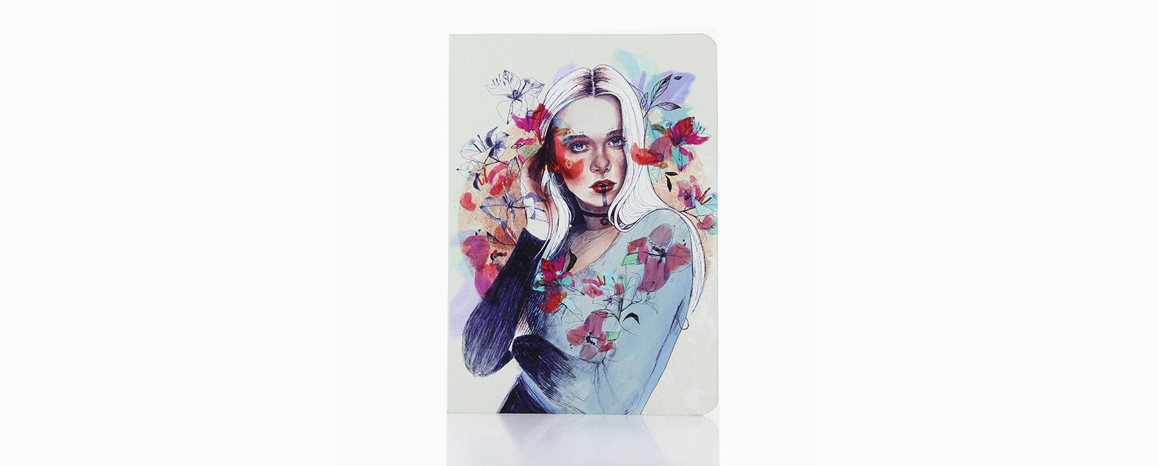 Cuaderno ilustrado Sally - Reina de Diamantes