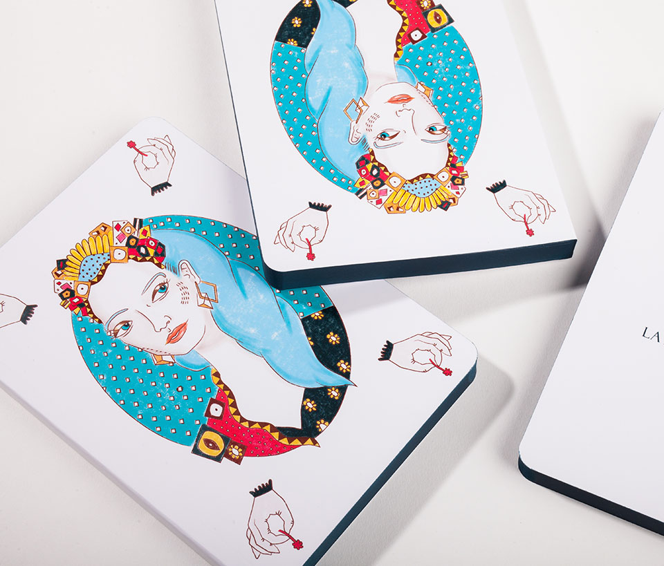Cuaderno ilustrado Sibila - Reina de Diamantes