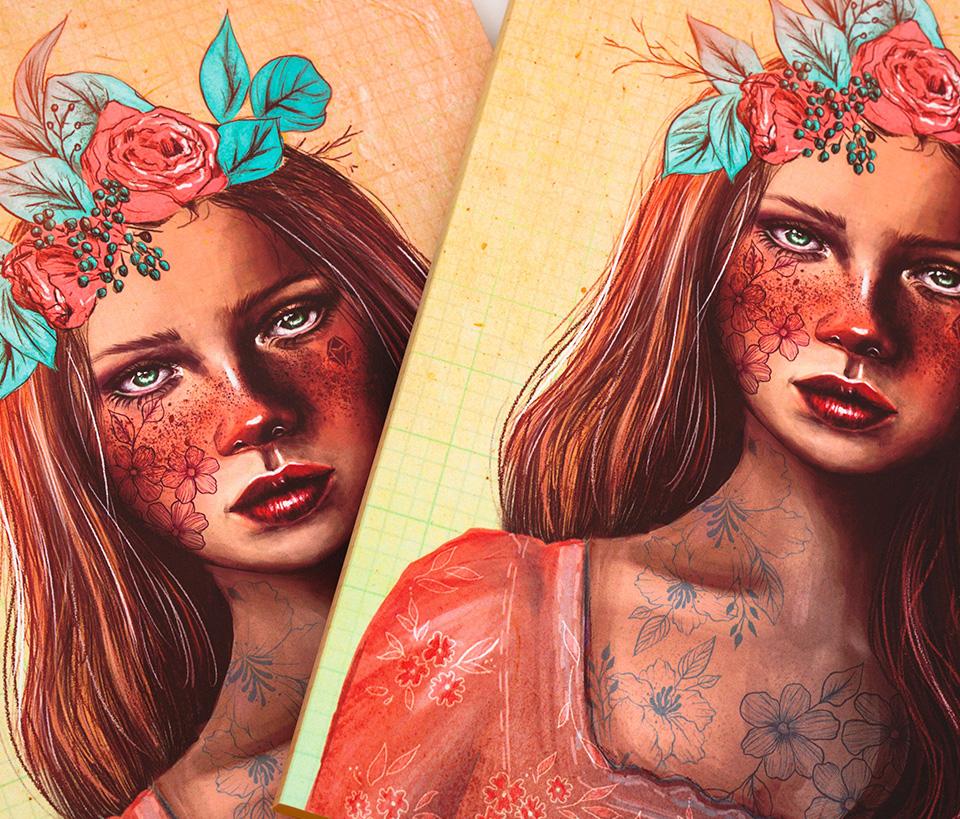 Cuaderno ilustrado Benazir - Reina de Diamantes