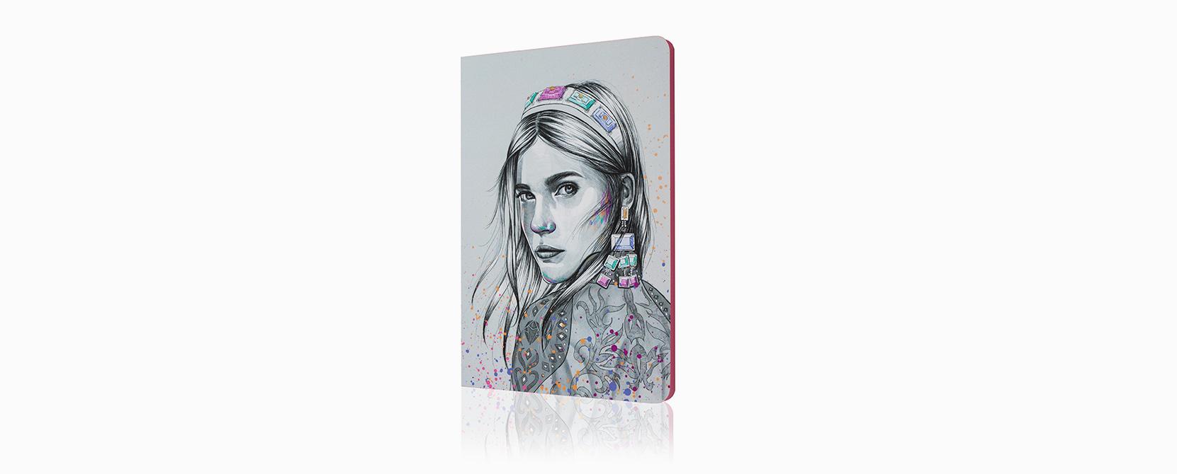 Cuaderno ilustrado Selma - Reina de Diamantes