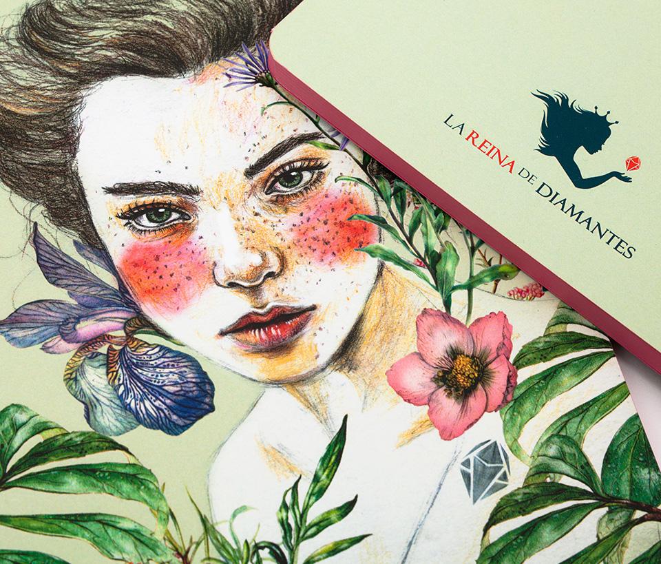 Cuaderno ilustrado Zaha - Reina de Diamantes