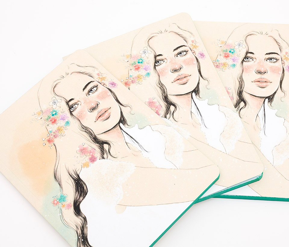 Cuaderno ilustrado Anita - Reina de Diamantes