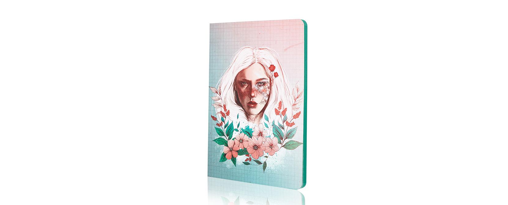 Cuaderno ilustrado Emilie - Reina de Diamantes