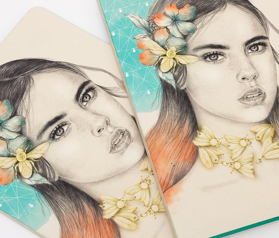 Cuaderno ilustrado Eva - Reina de Diamantes